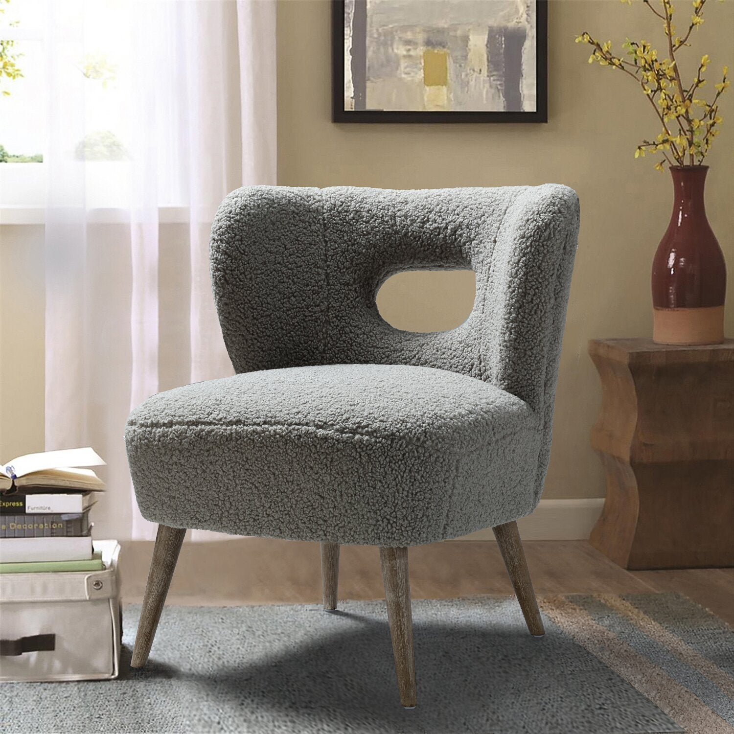 "Ivy Bronx Olivieri 25.6"" Wide Polyester Side Chair"
