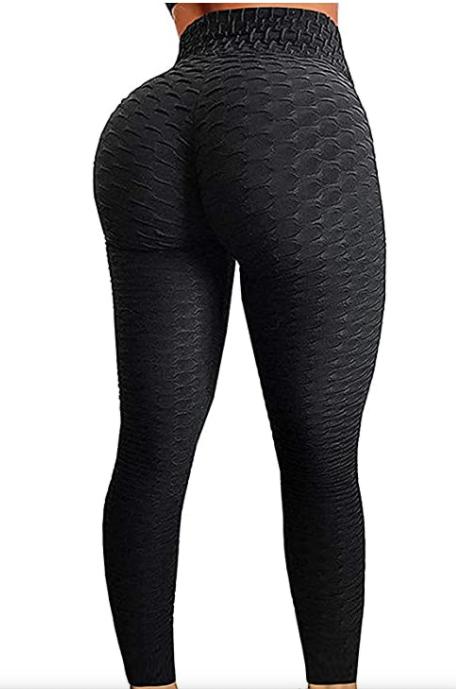 SEASUM Women's High Waist Butt Lifting Leggings