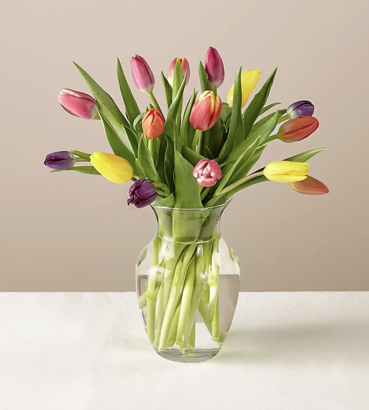 FTD Spring Breeze Multicolored Tulip Bouquet With Vase