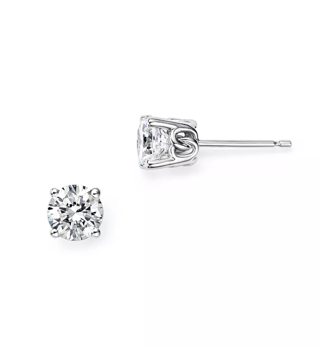Bloomingdale's Diamond Stud Earrings successful  14K White Gold, 0.25 ct. t.w. - 1.0 ct. t.w.