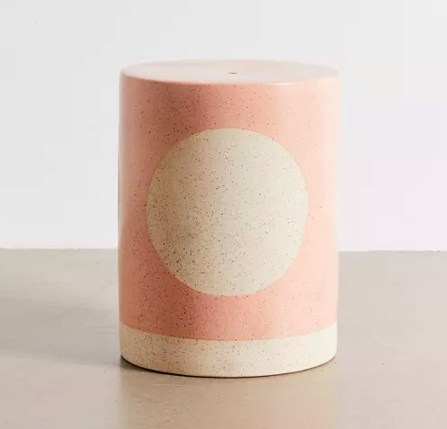 Urban Outfitters Ceramic Drum Indoor/Outdoor Side Table