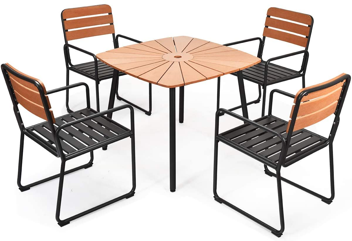 Giantex 5 Piece Patio Dining Table Set