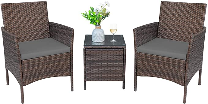 Greesum 3 Pieces Outdoor Patio Furniture Sets