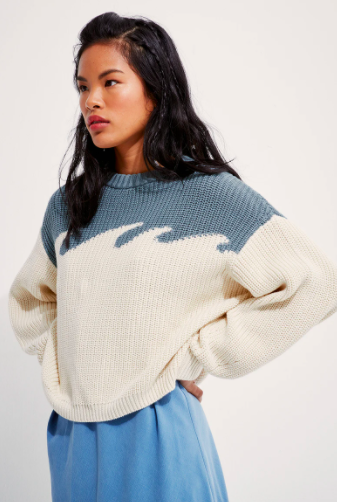 Back Beat Co. Organic Cotton Wave Sweater