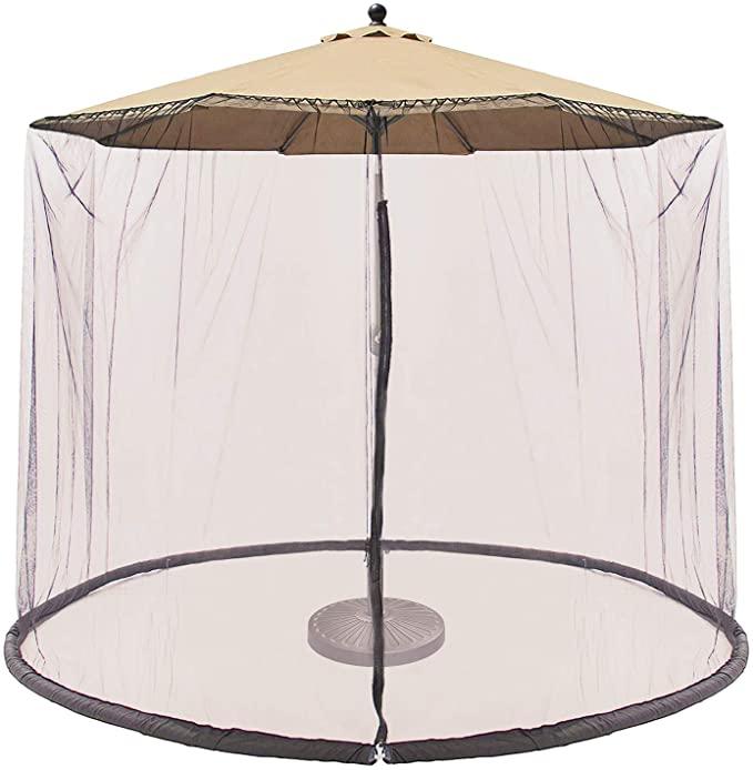 CoastShade Patio Umbrella Outdoor Screen Mesh Mosquito Net Canopy