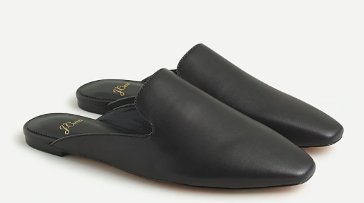 J.Crew Bennet Unstructured Leather Mules
