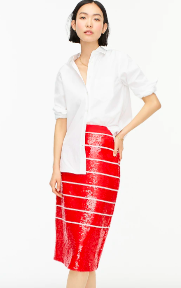 J.Crew Long No. 2 Pencil Sequined Skirt