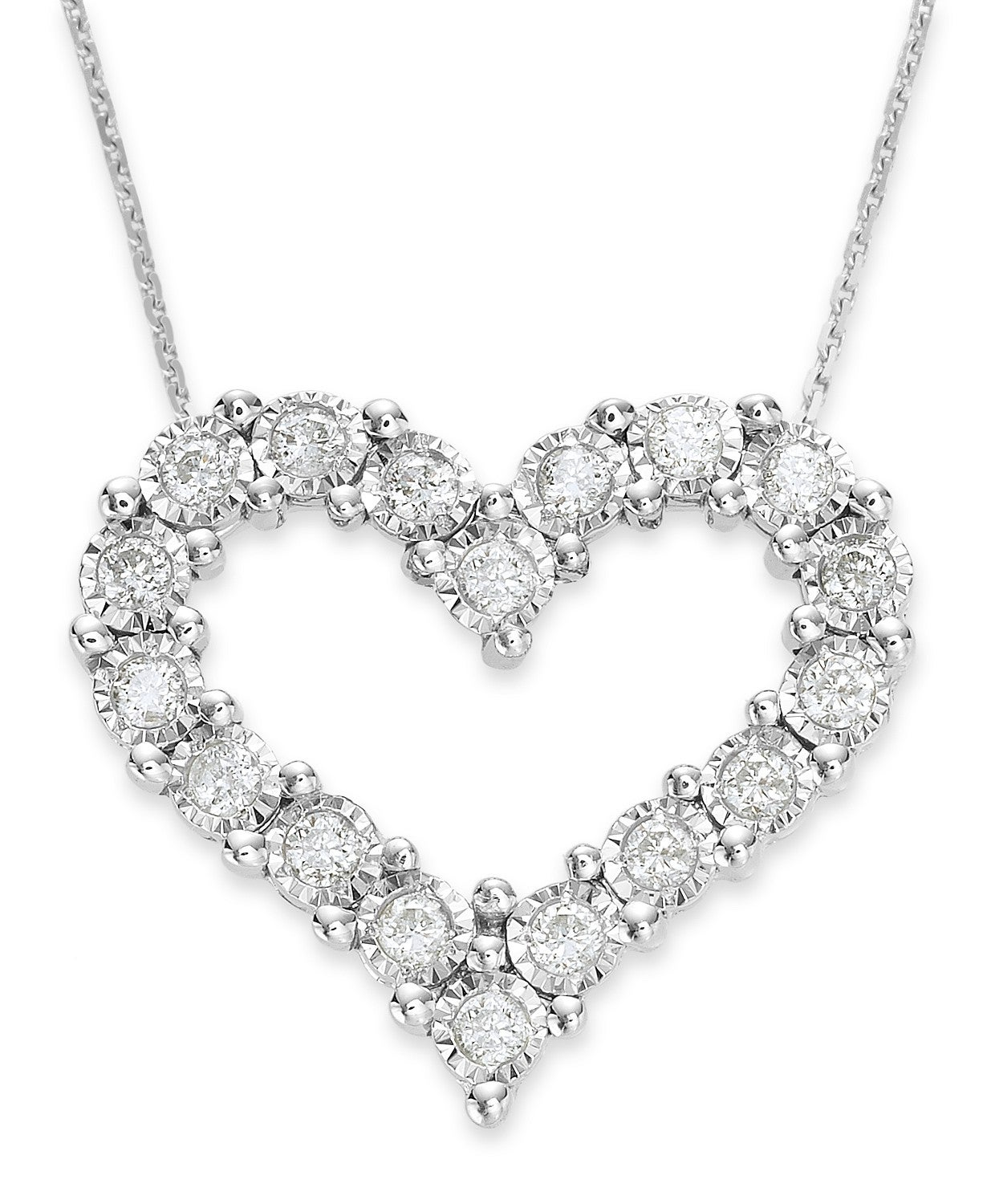 TruMiracle Diamond Heart Pendant