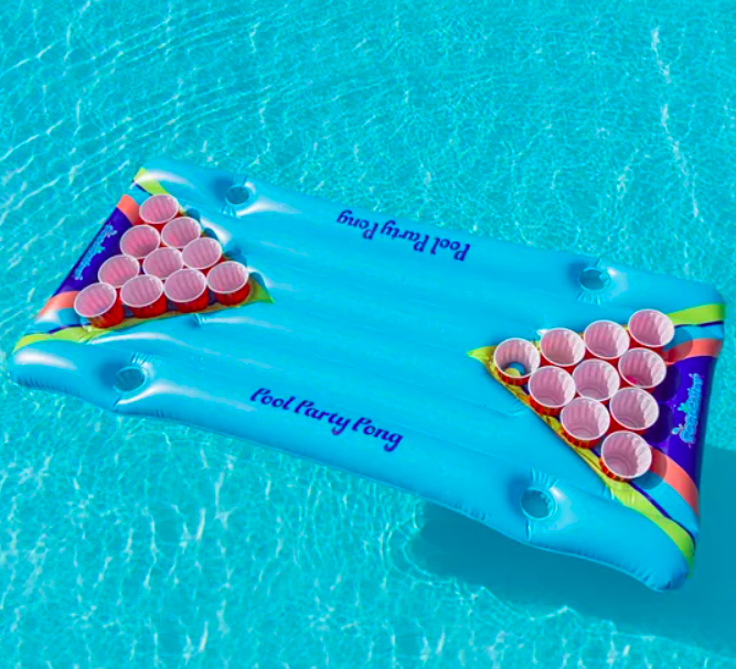 Urban Outfitters Inflatable Pong Pool Float Game