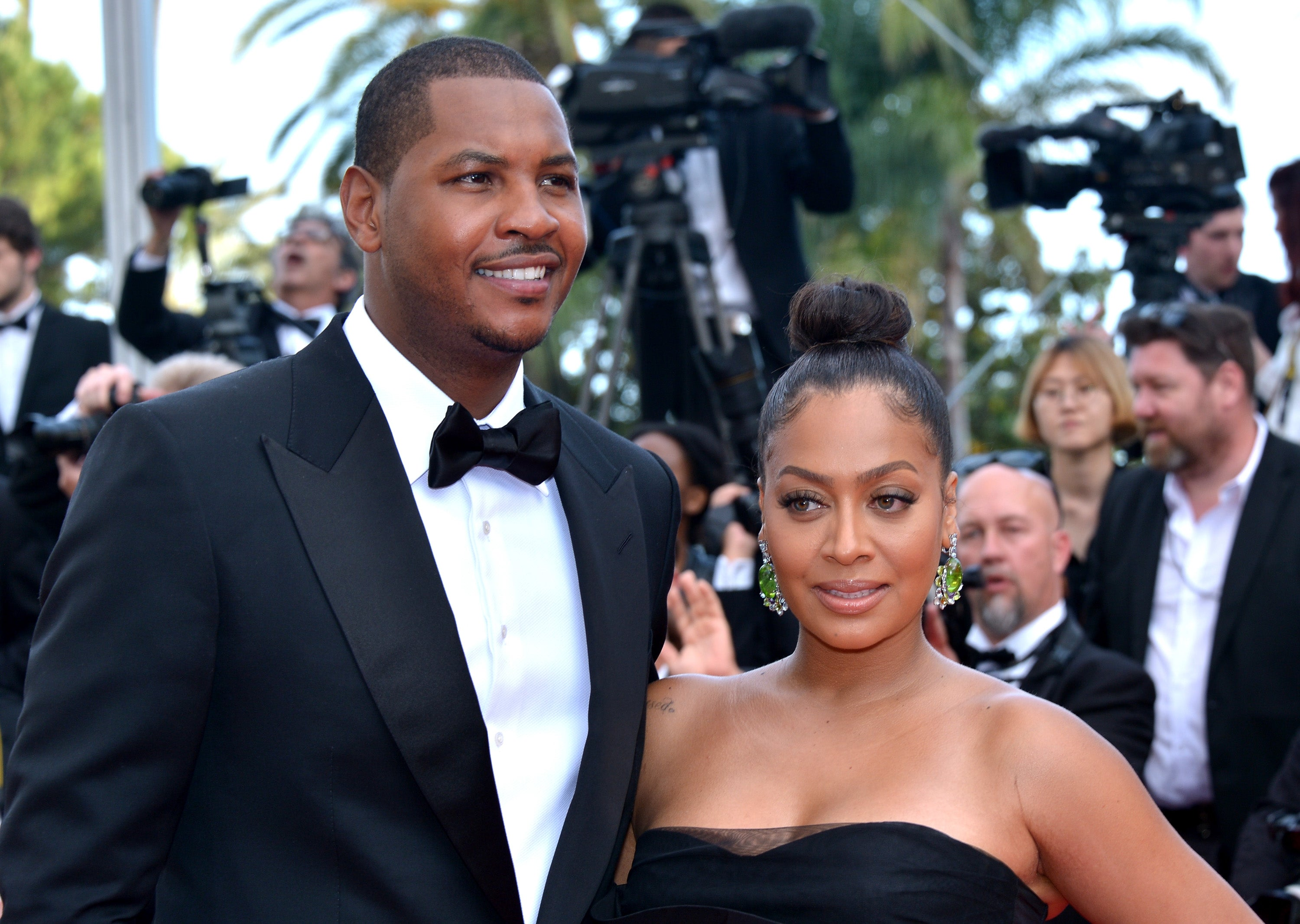 Professional basketball player Carmelo Anthony and television personality La La Anthony attend the