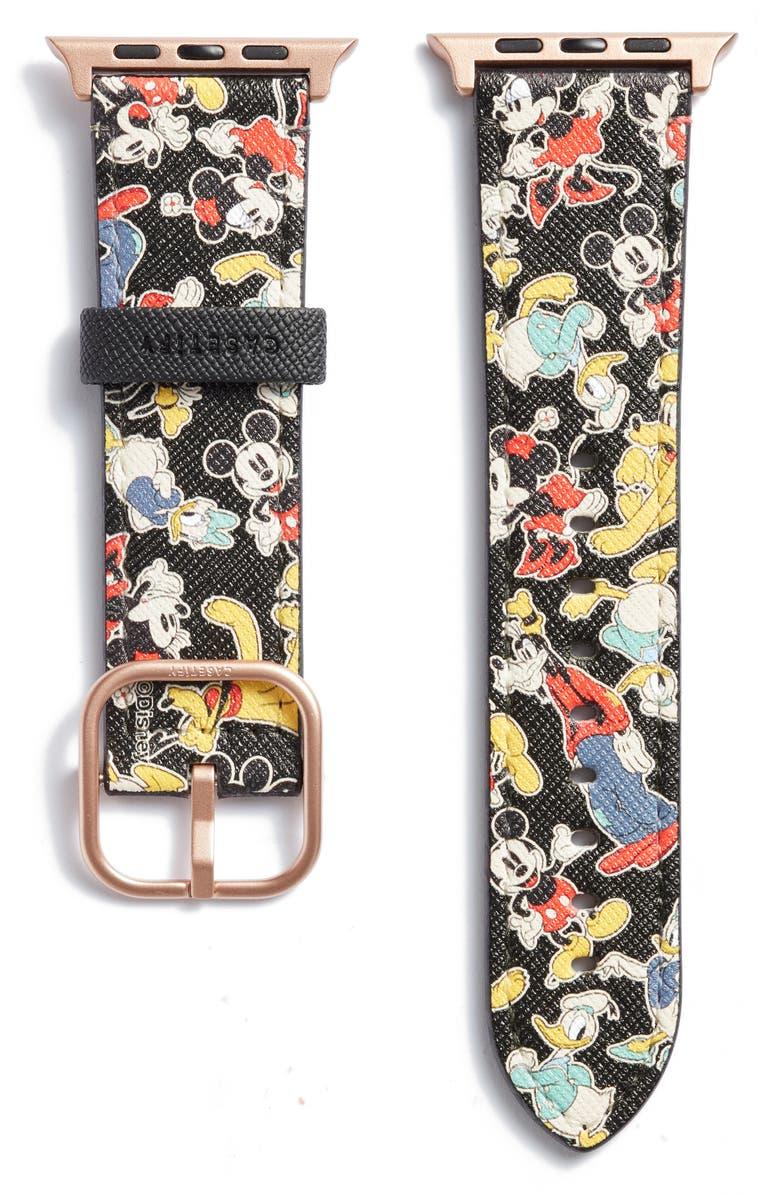 Disney x CASETiFY Mickey & Friends Saffiano Faux Leather Apple Watch Band