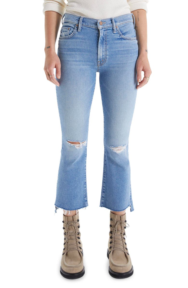 The Insider High Waist Crop Step Fray Hem Jeans