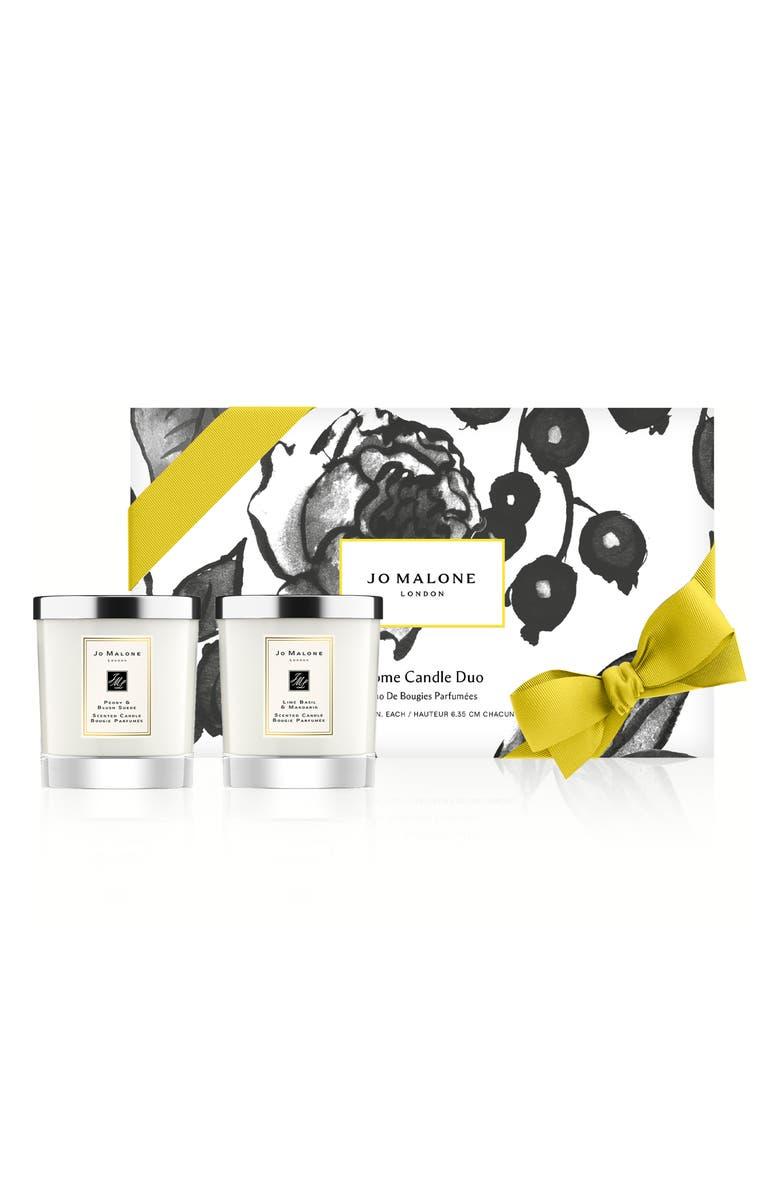 Peony & Blush Suede and Lime Basil & Mandarin Candle Set