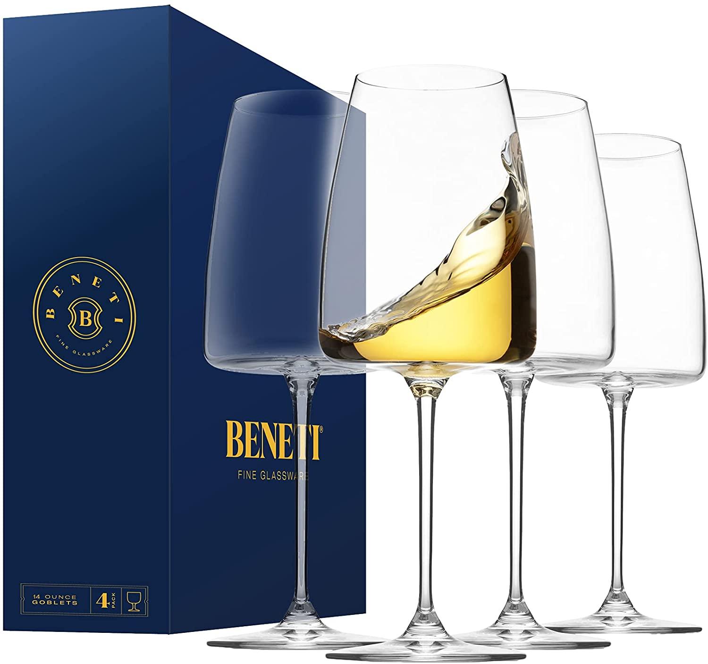 BENETI Exquisite White Wine Glasses [Set of 4]