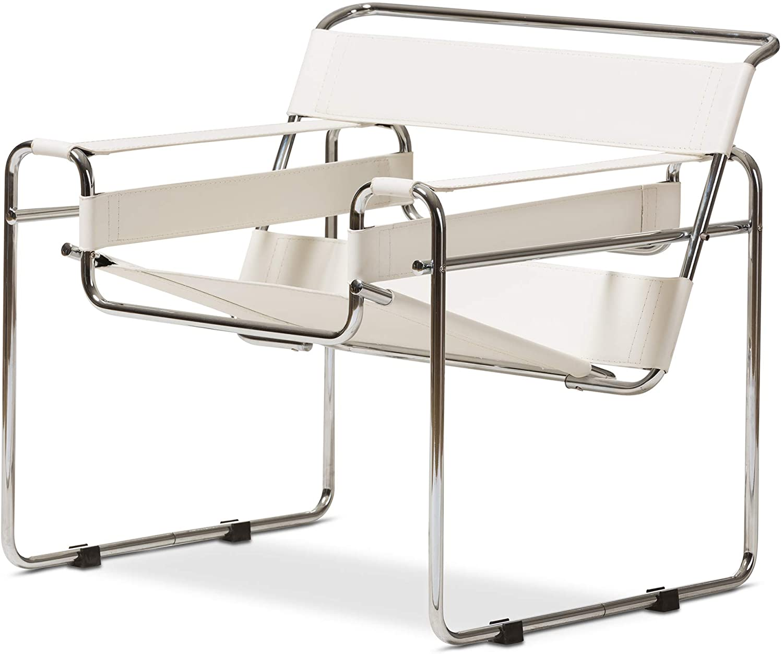Baxton Studio ALC-3001 White Directors Chairs