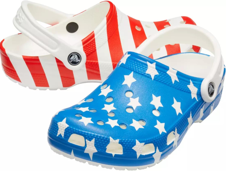 Crocs Classic American Flag Clogs