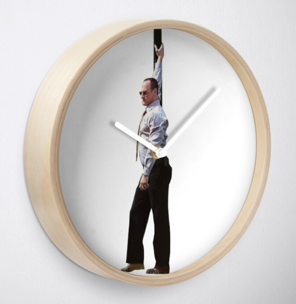 Detective Stabler Clock