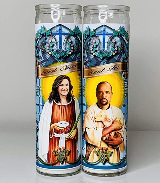 Do Pray Tell Olivia Benson And Finn Prayer Candle Set - Law & Order Svu