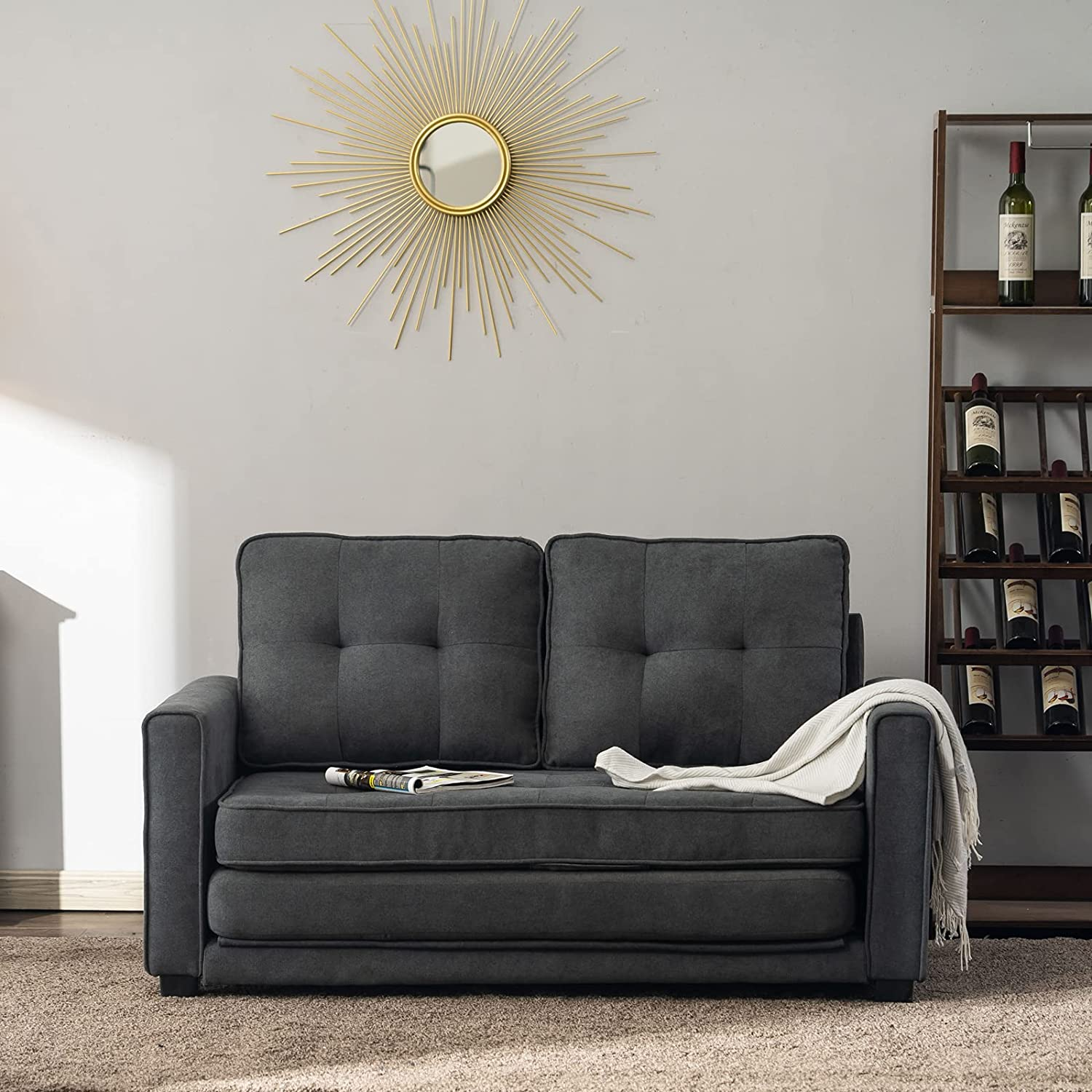 Sksl Modern and Simple Nordic Style Double Sofa Bed