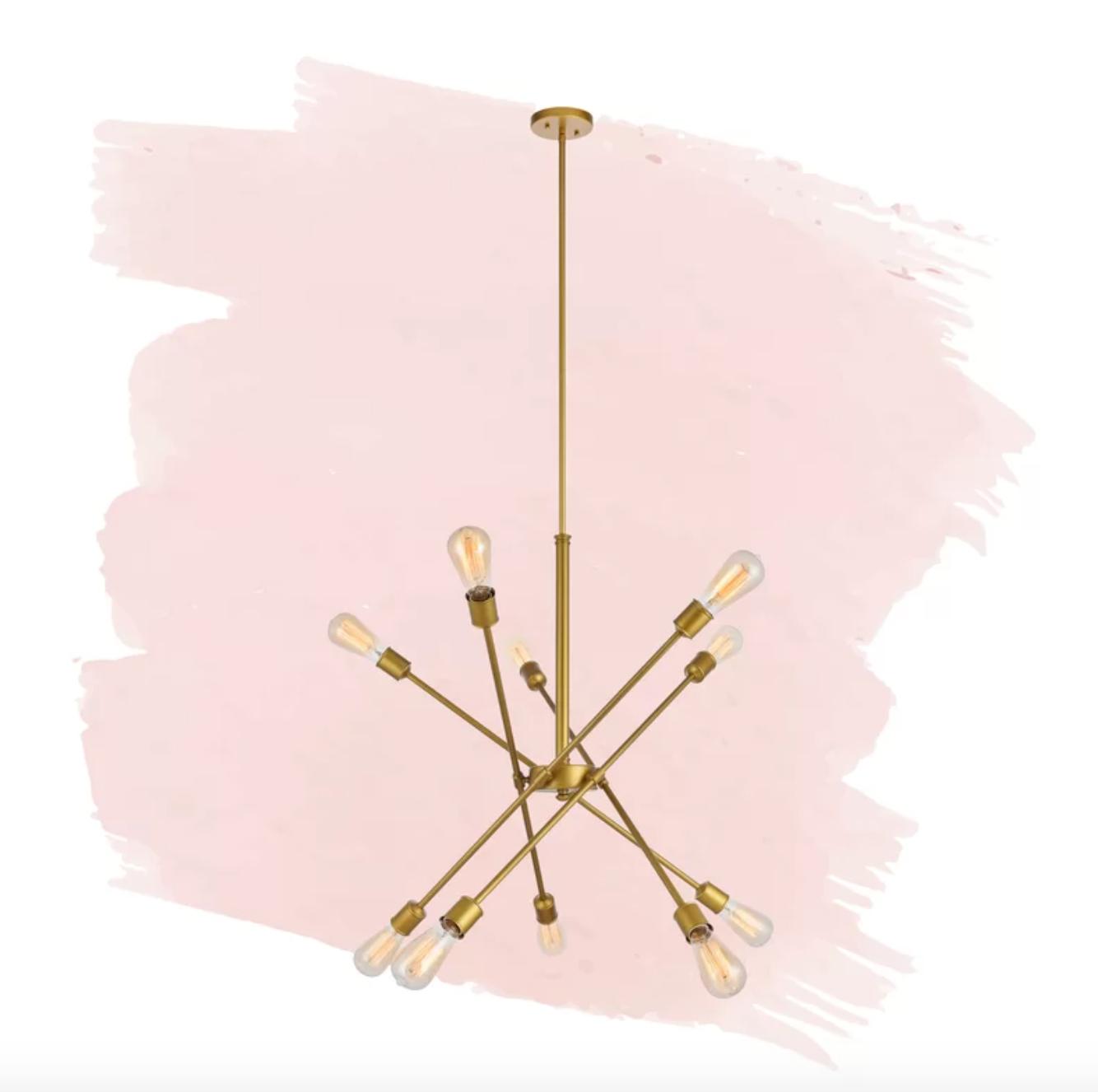 Waycross 10 - Light Unique Modern Linear Chandelier