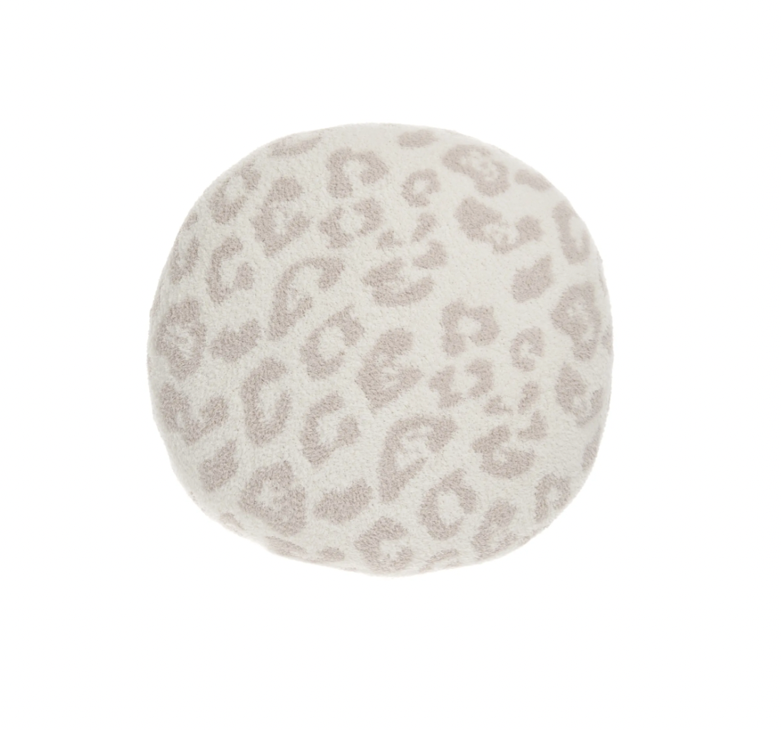 Barefoot Dreams In the Wild Round Leopard Print Pillow