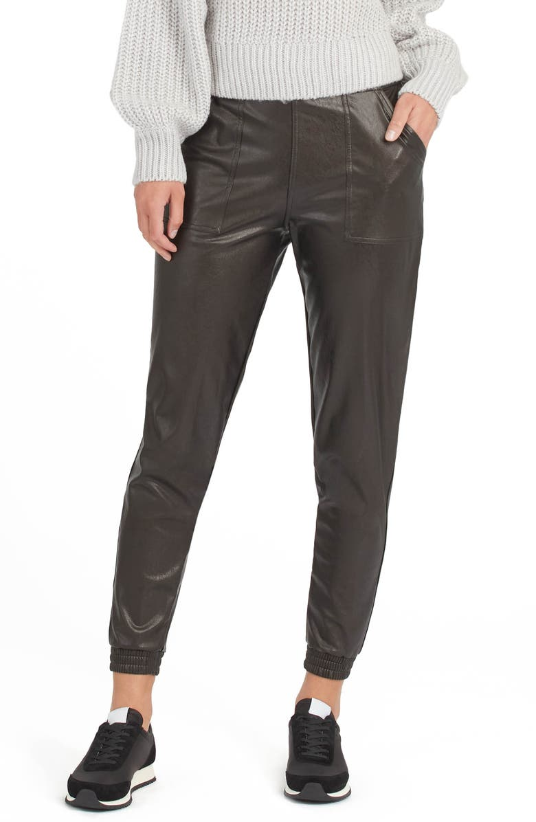 Spanx faux leather jogger