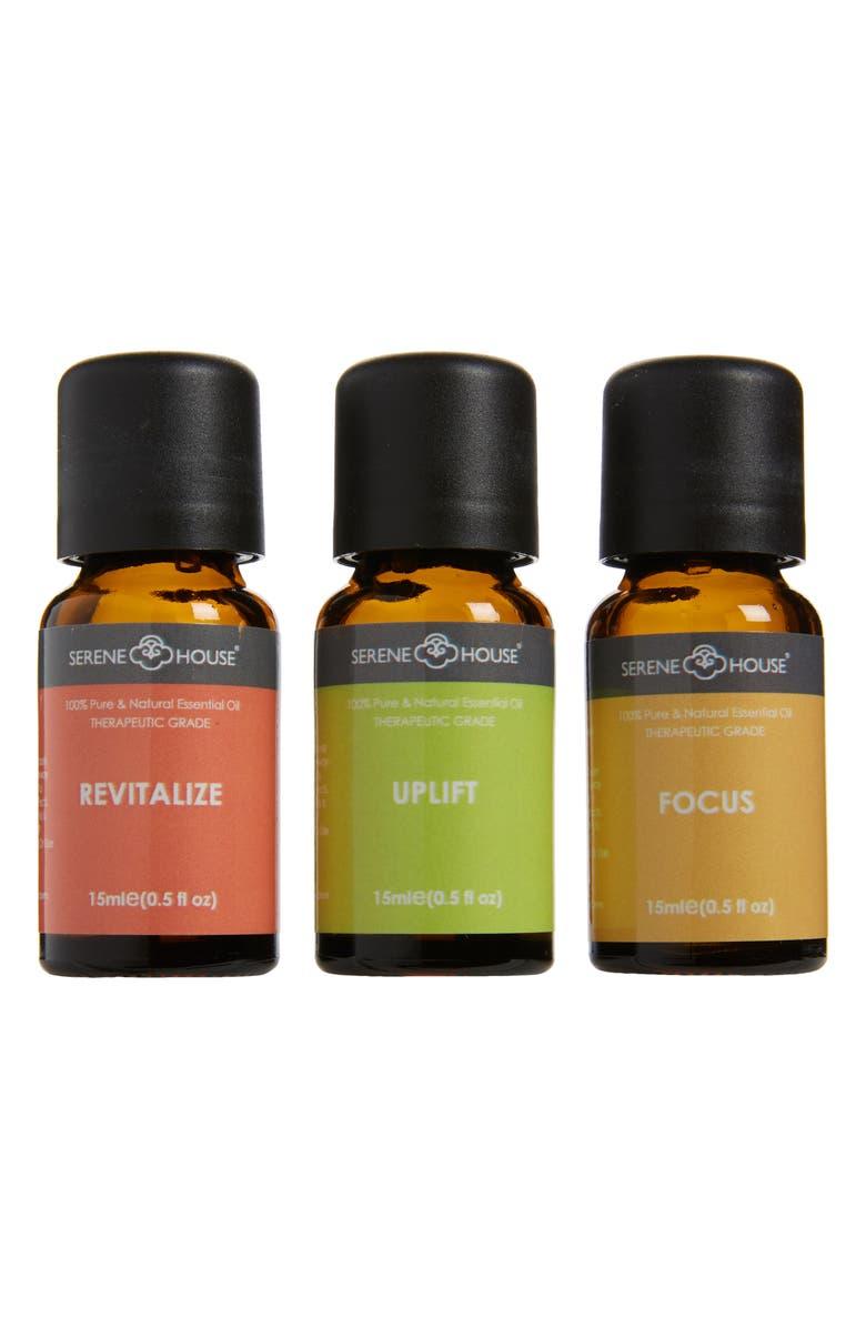 Serene House Revitalize & Focus 3-Pack Essential Oils