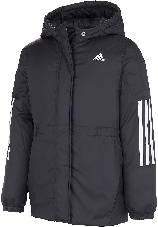 Adidas Girls' Hooded Insulated Jacket Coat