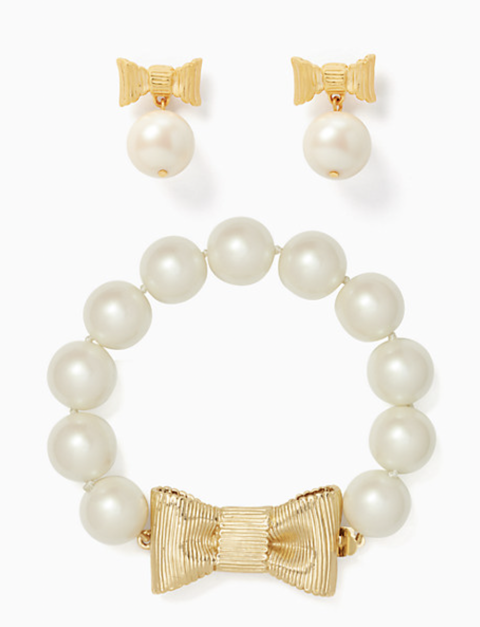 Kate Spade Wrapped in Pearl Bracelet Bundle