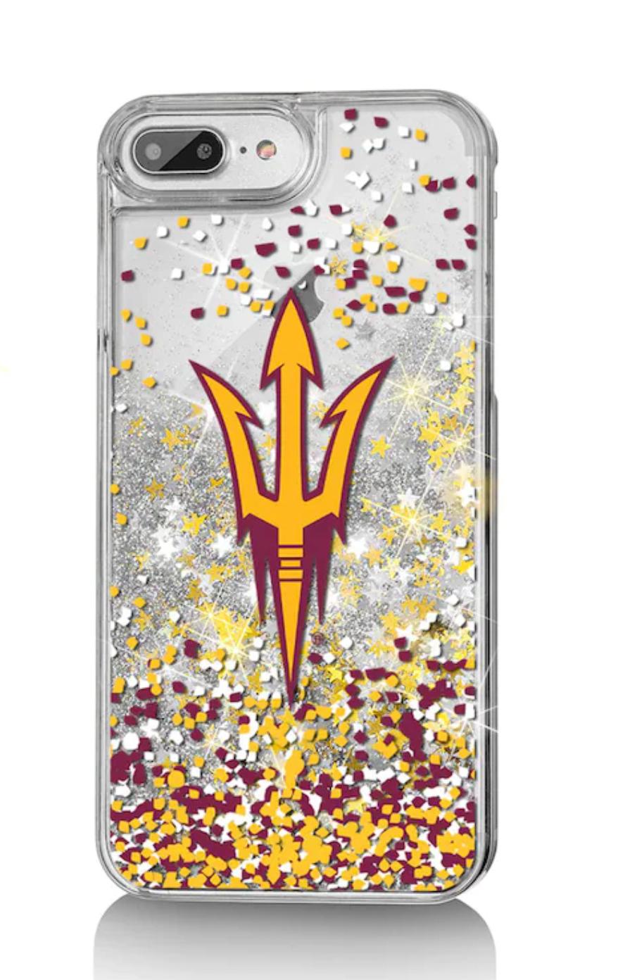 Arizona State Sun Devils iPhone Glitter Confetti Case