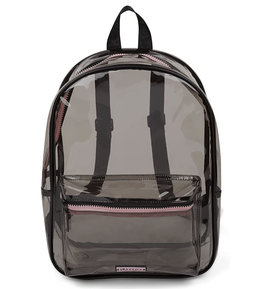 BLACKPINK Black-Tinted See-Through Backpack