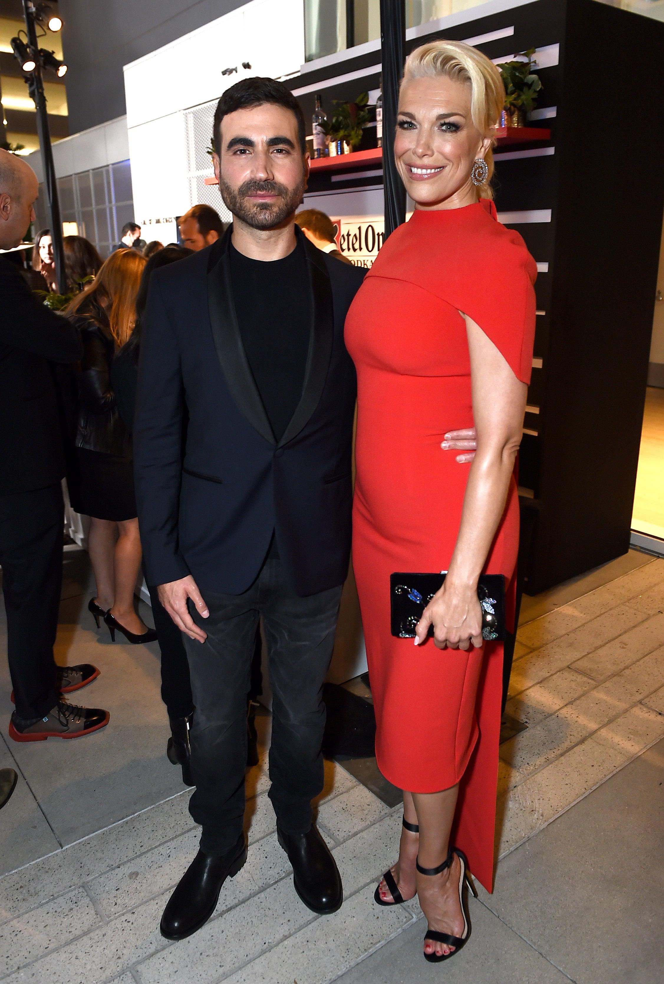 Brett Goldstein and Hannah Waddingham  at Brett Goldstein and Hannah Waddingham at the 73rd Emmy Awards Performers Nominee Celebration