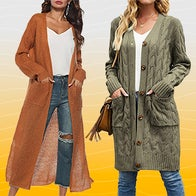 the most fashionable cardigans for fall