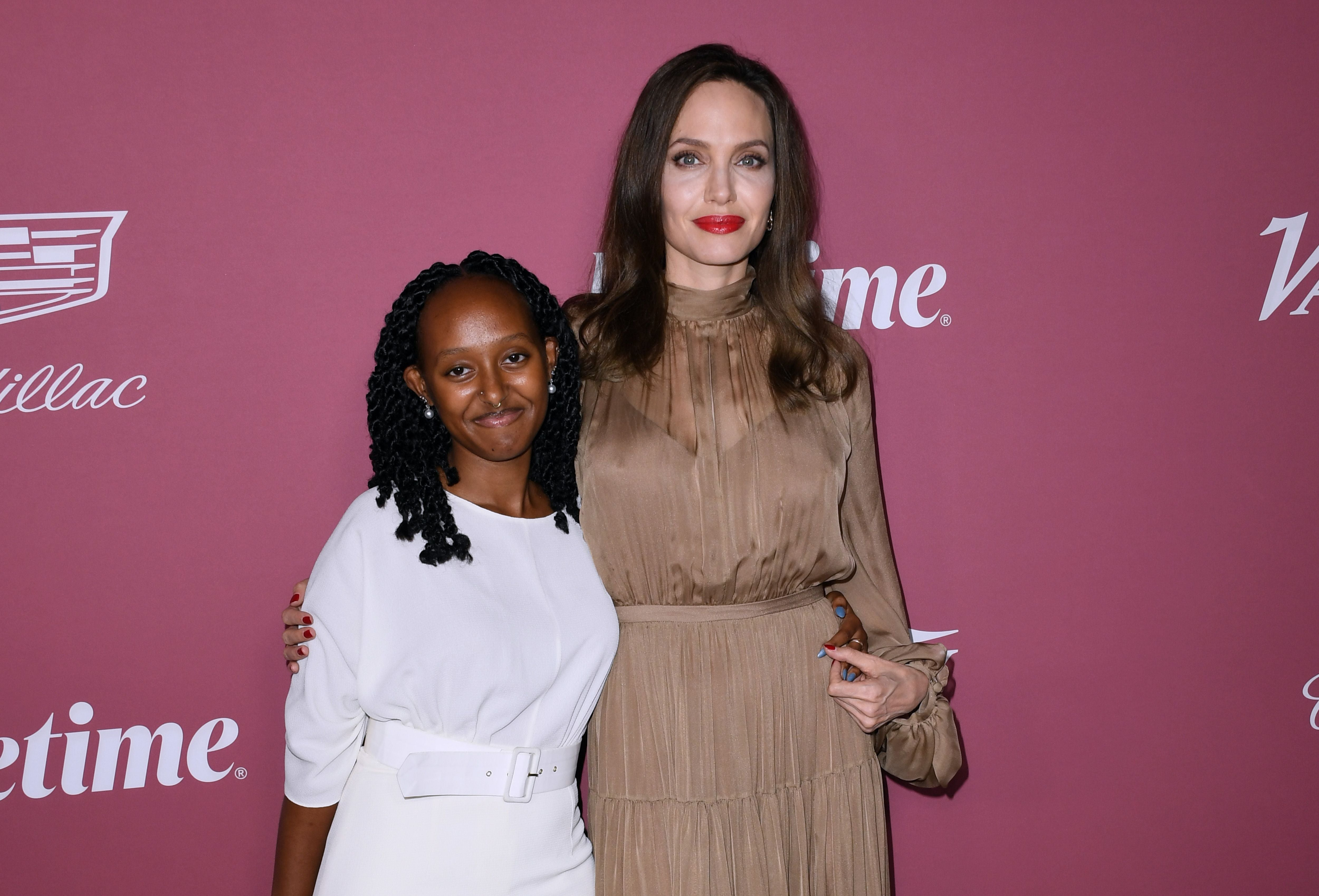 Zahara Jolie-Pitt and Angelina Jolie Variety's Power Of Women