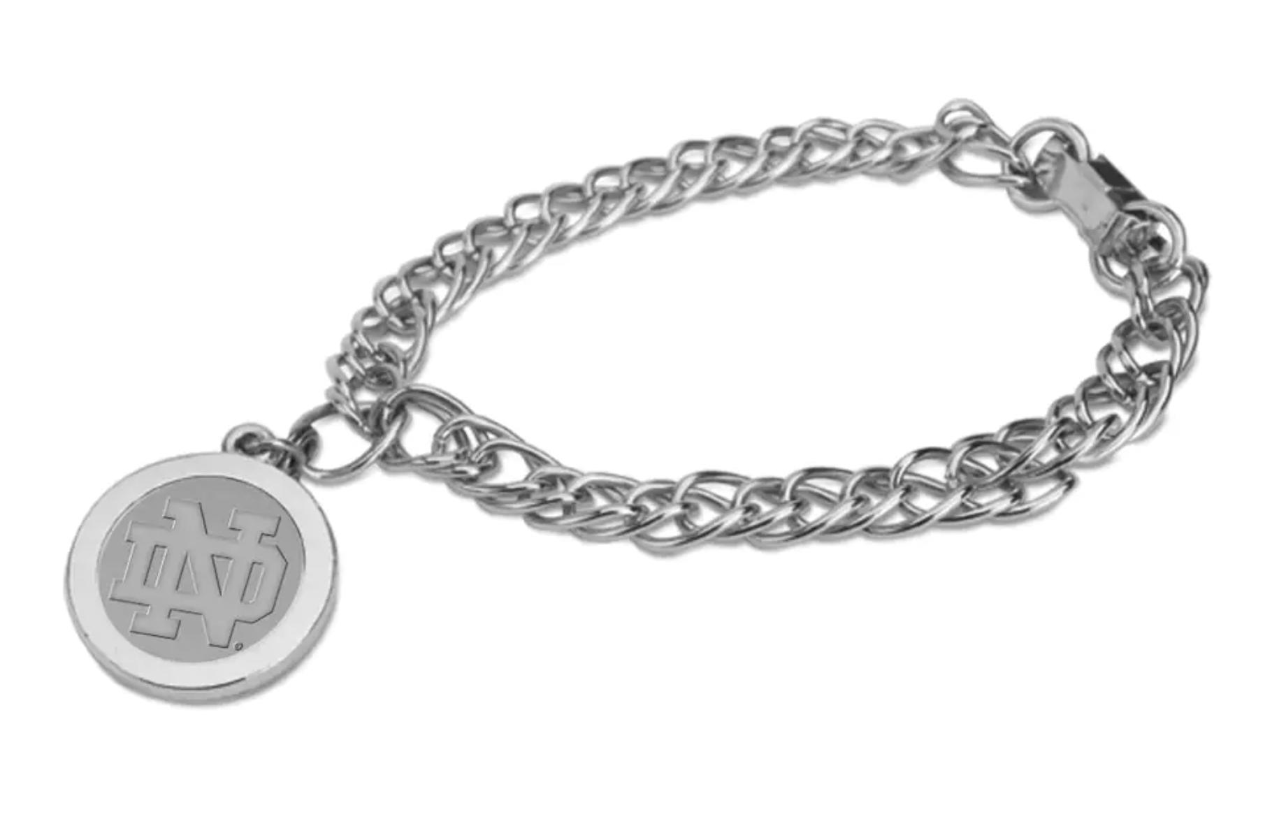 Notre Dame Fighting Irish Silver Charm Bracelet