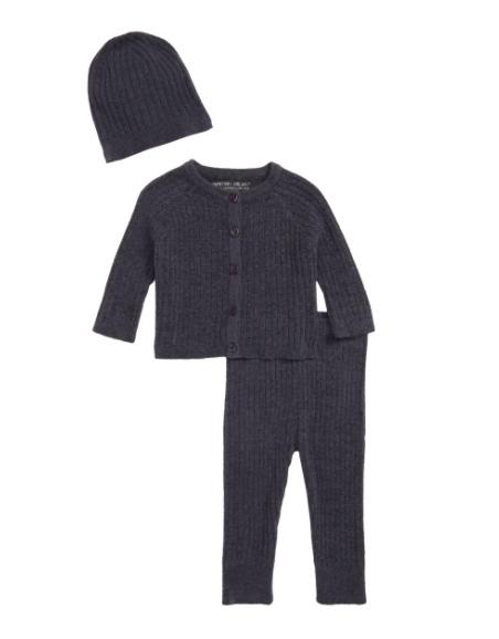 ® CozyChic™ Ultra Lite Ribbed Cardigan, Pants & Beanie Set