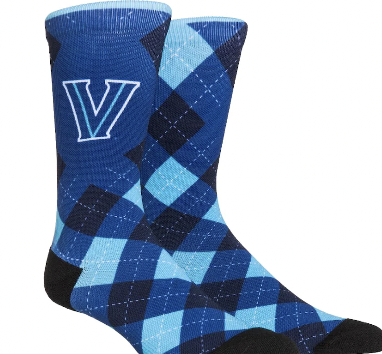 Villanova Wildcats Rock Em Socks HyperOptic Argyle Dress Socks