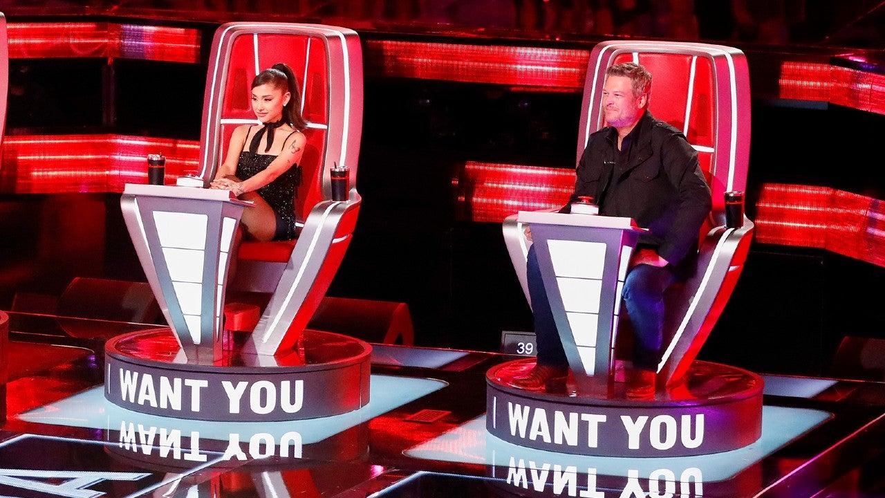 Ariana Grande and Blake Shelton