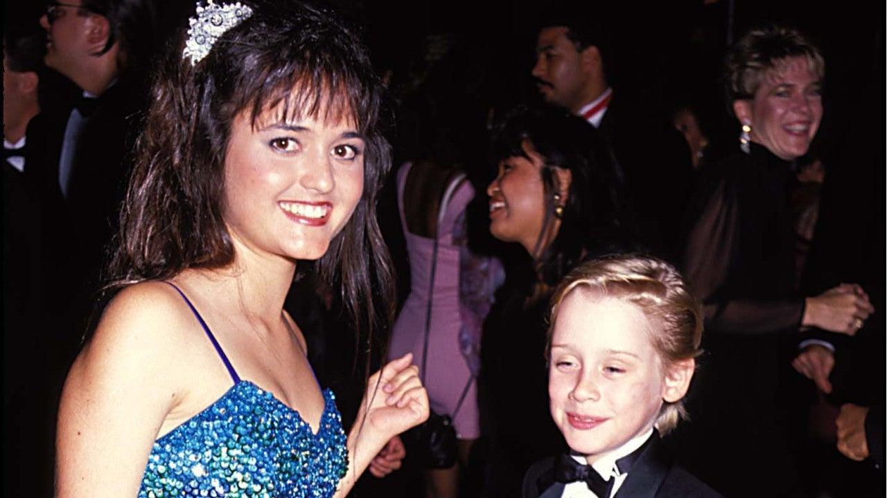 Danica McKellar and Macaulay Culkin