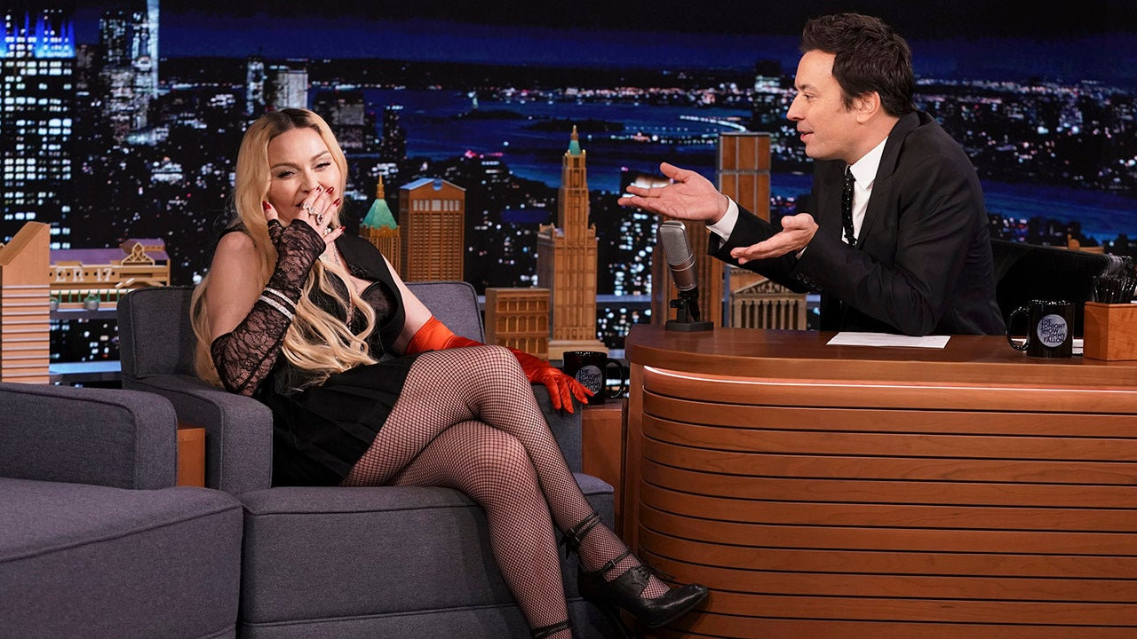 Madonna during an interview with host Jimmy Fallon on Thursday, October 7, 2021