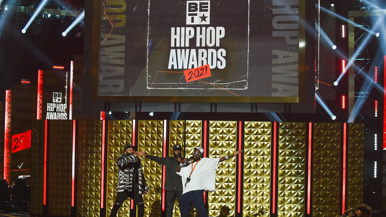 Young Fly, Chico Bean and Karlous Miller at BET Hip Hop Awards 2021