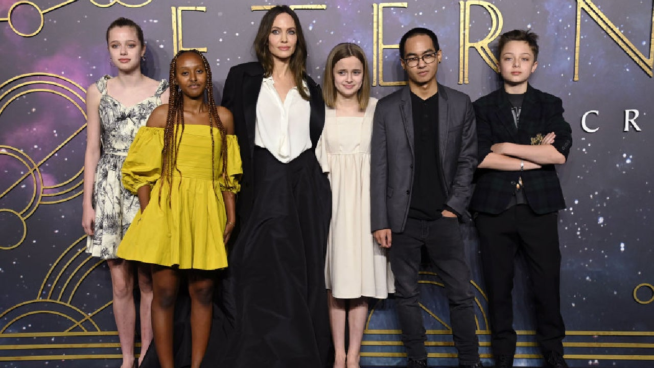 Angelina Jolie and kids at 'Eternals' premiere