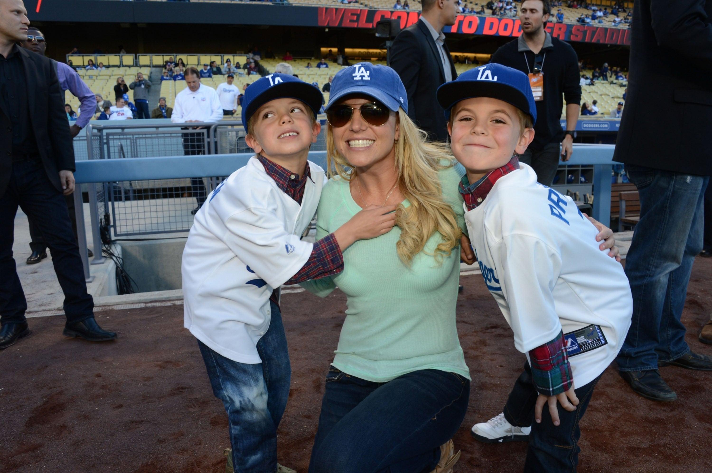 Britney Spears with sons Jayden James and Sean Preston