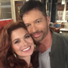 Debra Messing and Harry Connick Jr. on Will & Grace set