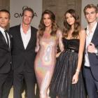 Cindy Crawford, Rande Gerber, Kaia Gerber, and Presley Gerber at Paris Fashion Week
