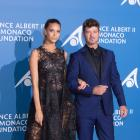 Robin Thicke and April Love Geary Walk Carpet in Monte Carlo