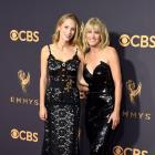 Robin Wright and Dylan Penn at the 2017 Emmys