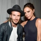 David and Victoria Beckham at Ken Paves Salon