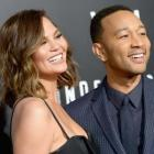 Chrissy Teigen and John Legend at WGN America's 'Underground' Season Two Premiere Screening at Regency Village