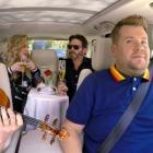 Kelly Clarkson, husband Brandon Blackstock and James Corden in new 'Carpool Karaoke'